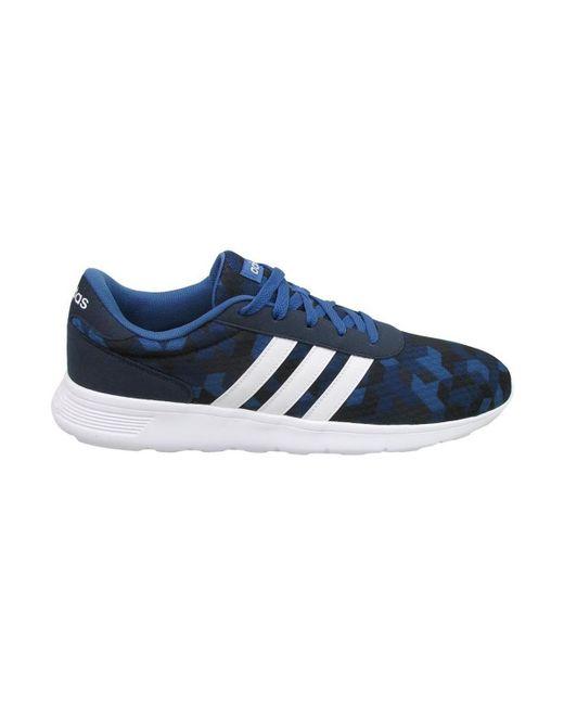 Adidas azul Lite Racer hombre en azul Adidas en azul para los hombres Lyst d3be87