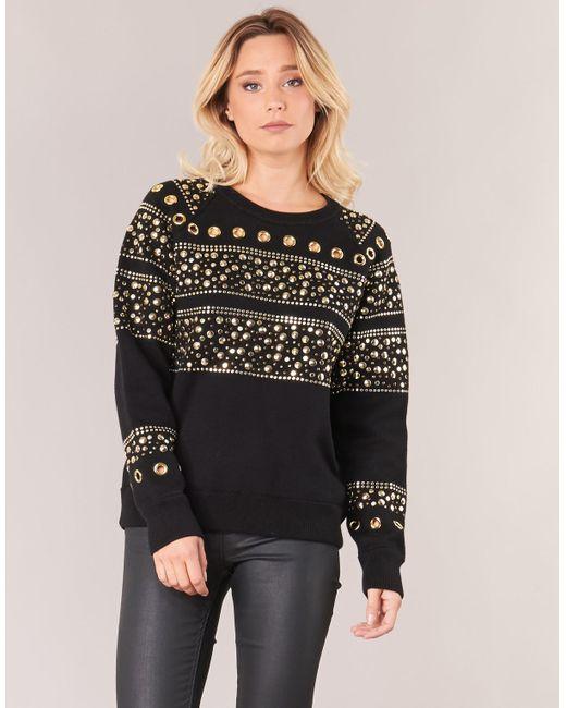 c4f971d6b3b MICHAEL Michael Kors Stud Sweatshirt Sweatshirt in Black - Save 48 ...