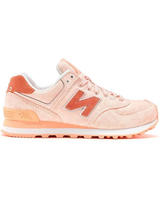 New Balance | 574 Textile Women Trainers In Diva Pink White Wl574 Swa Women's Shoes (trainers) In Pink | Lyst
