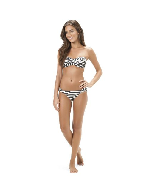 Low Shipping Fee Sale Online Buy Cheap Shop For Bikini Bottom Black and White striped SALINAS - Drops Salinas Cheap 2018 Outlet Amazing Price Iy1NTBG