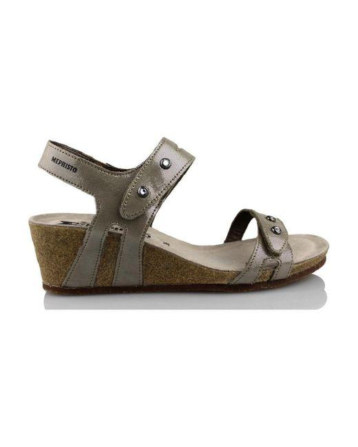 Mephisto - Metallic S Minoa Women's Sandals In Gold - Lyst