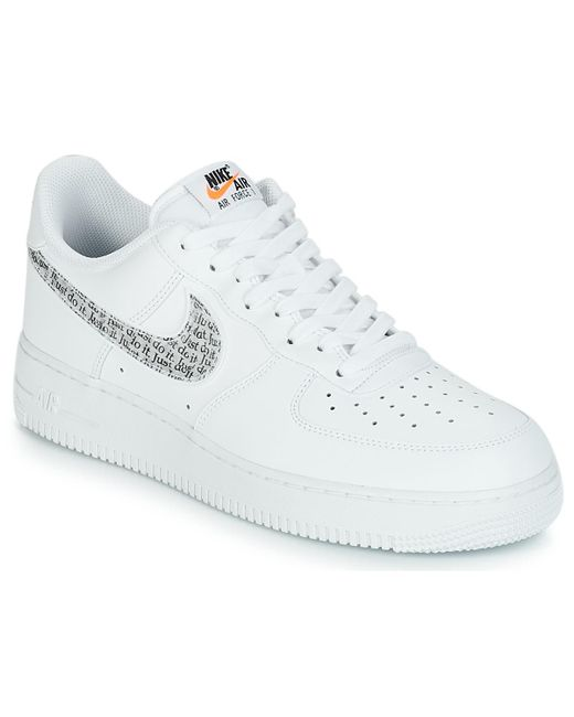 87fd786c337 Nike - White AIR FORCE 1  07 LV8 JUST DO IT hommes Chaussures en blanc ...