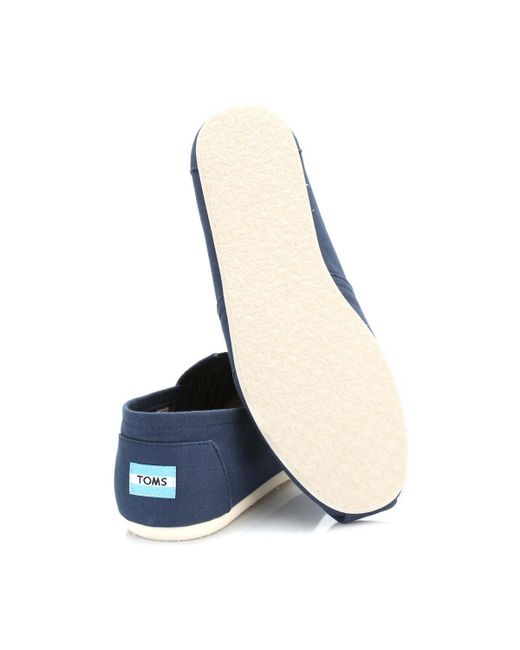 d120dacc062 ... TOMS - Mens Navy Canvas Classic Espadrilles Men s Slip-ons (shoes) In  Blue ...