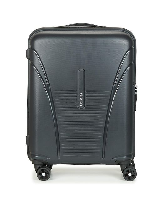 american tourister spinner 55cm women s hard suitcase in black in