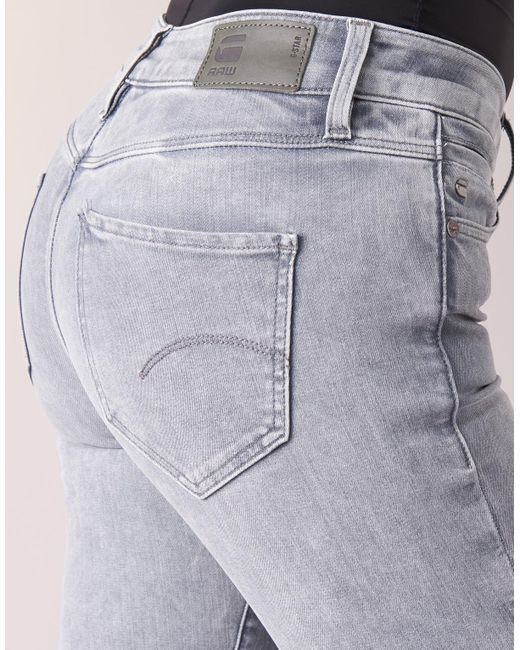 ebc2c794c27 G-Star RAW Midge Saddle Mid Straight Jeans in Gray - Save 11% - Lyst