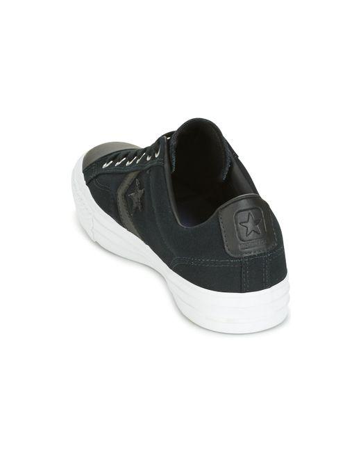 d73670d51ec ... Converse - Star Player Canvas With Gum Ox Black black white Men s Shoes  ...