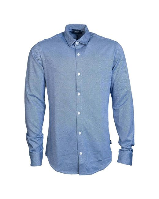 Armani Jeans - Shirt 6y6c09 6nmbz Men's Long Sleeved Shirt In Blue for Men - Lyst