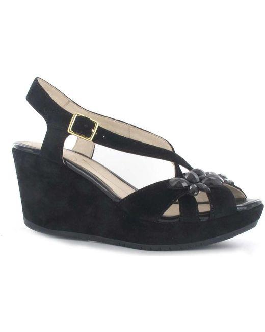Stonefly - 108305 Wedge Sandals Women Black Women's Sandals In Black - Lyst