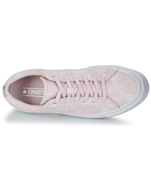 adc62abf5414f6 Converse One Star Women s Shoes (trainers) In Pink in Pink - Lyst
