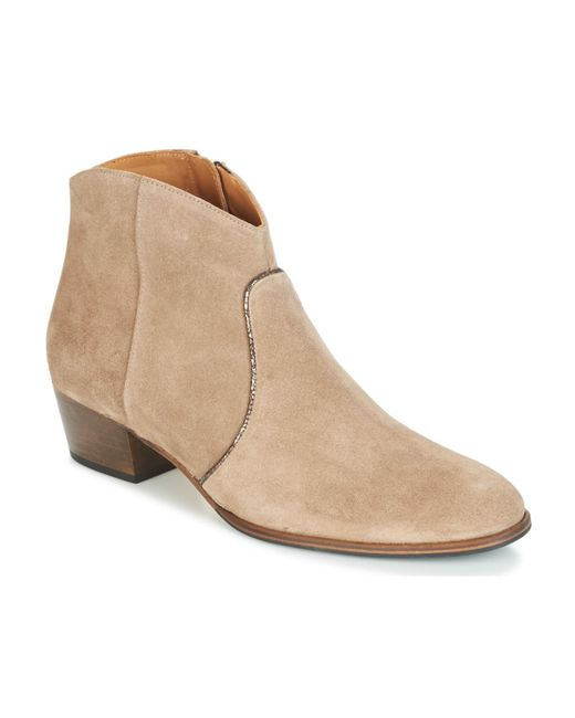 Emma Go - Natural Dunn Women's Low Ankle Boots In Beige - Lyst