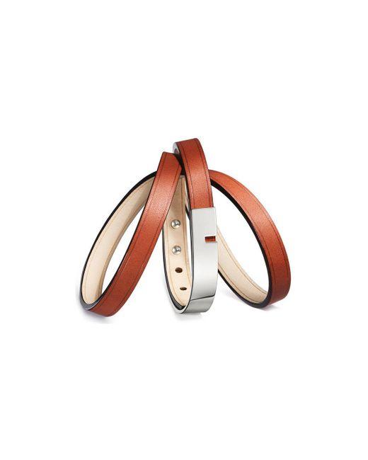 Ursul - Bracelet U-turn Triple Ii Red / Silver Woman Autumn/winter Coll Women's Bracelet In Red - Lyst