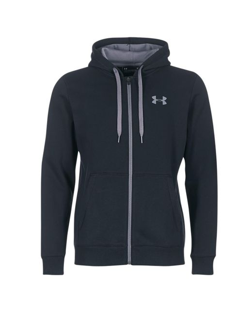 Under Armour - Rival Fitted Full Zip Men's Sweatshirt In Black for Men - Lyst