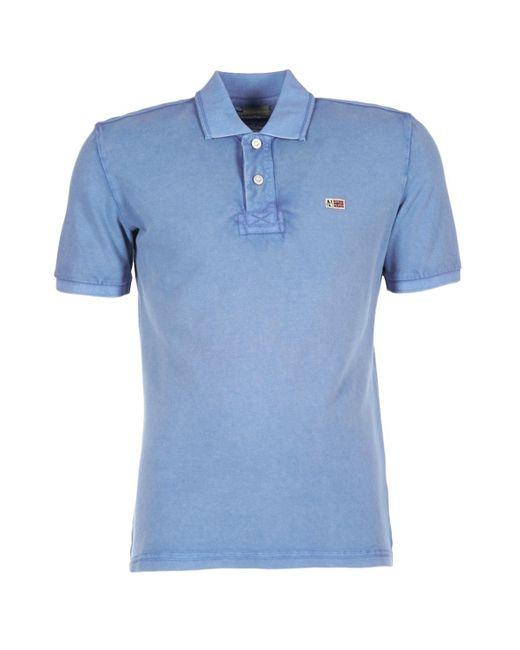 Napapijri | Taly Men's Polo Shirt In Blue for Men | Lyst