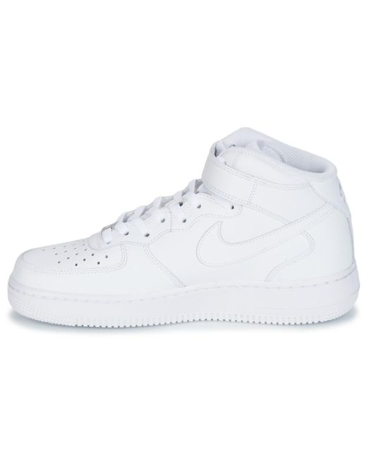 official photos d8576 5c350 ... Nike - Air Force 1 Mid 07 Leather Men s Shoes (high-top Trainers) ...