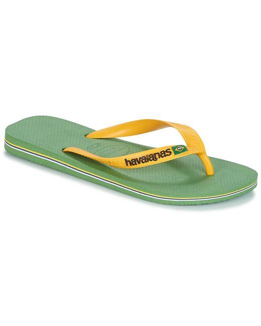 873330f29 Havaianas - Brazil Logo Men s Flip Flops   Sandals (shoes) In Green for Men  ...