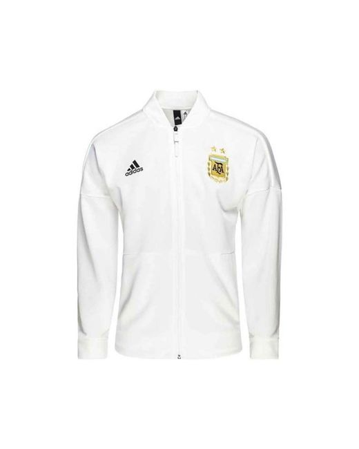Adidas - 2018-2019 Argentina Zne Knitted Anthem Jacket Men's Sweatshirt In White for Men - Lyst