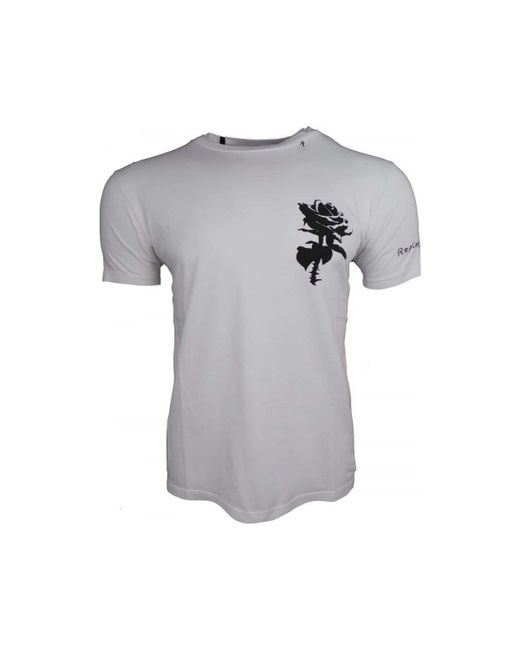 Replay - Rose Tee Men's In White for Men - Lyst