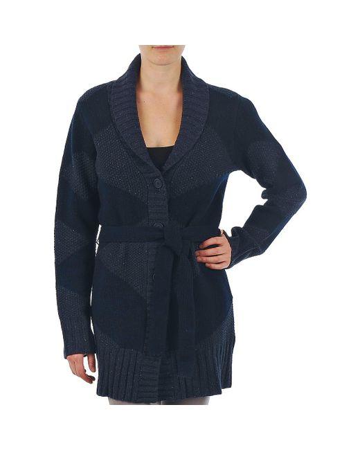 Gant - N.y. Diamond Shawl Collar Cardigan Women's In Blue - Lyst