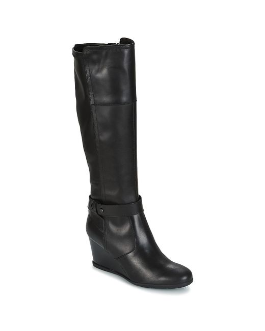 Geox - D Inspiration Wedge Women's High Boots In Black - Lyst