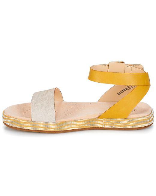 ... Clarks - Yellow Botanic Ivy Sandals - Lyst ...