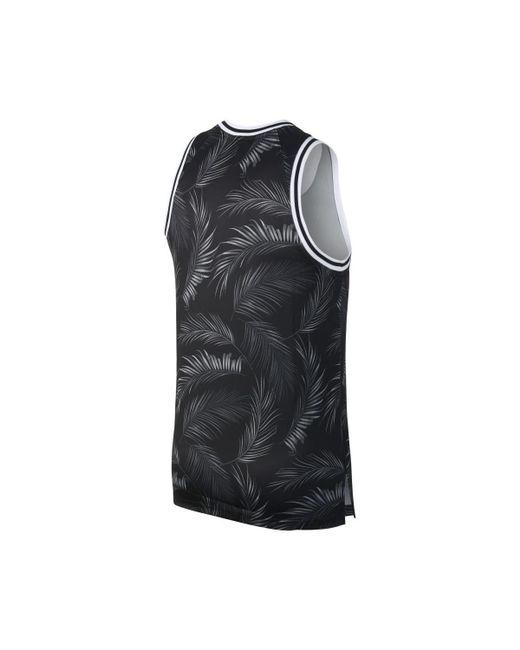 4e9015591f81 Nike Dna Floral Jersey Men s Vest Top In Black in Black for Men - Lyst