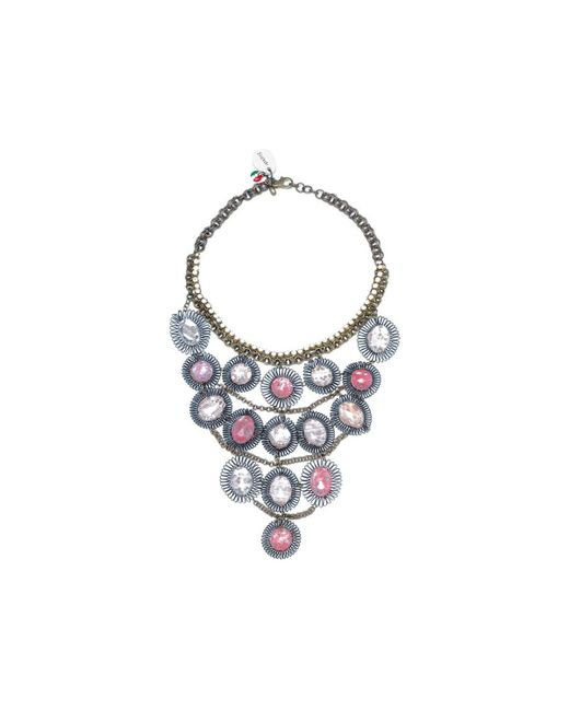 Sveva Collection - Collana Lunga Pietre Rosa Women's Necklace In Pink for Men - Lyst