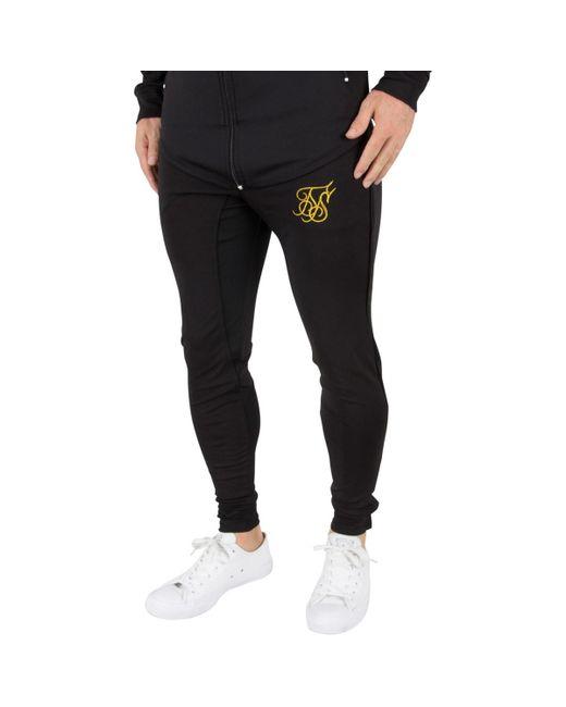 Sik Silk - Men's Zonal Logo Track Joggers, Black Men's Sportswear In Black for Men - Lyst