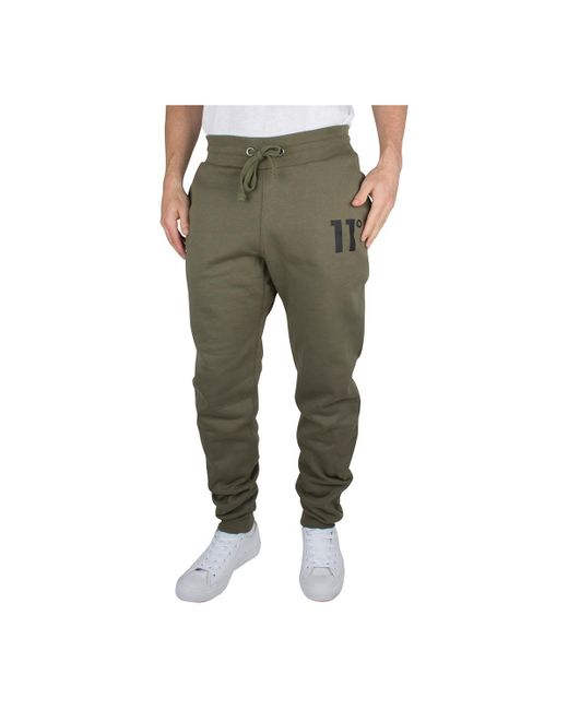 11 Degrees - Men's Core Logo Joggers, Green Men's Sportswear In Green for Men - Lyst