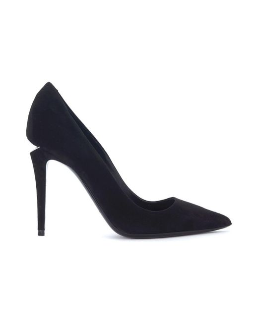 Alexander Wang - Decolletè Tia In Black Suede Women's Court Shoes In Black - Lyst