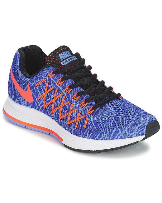 21e2d61447ba Nike - Blue Air Zoom Pegasus 32 Print W Running Trainers - Lyst ...