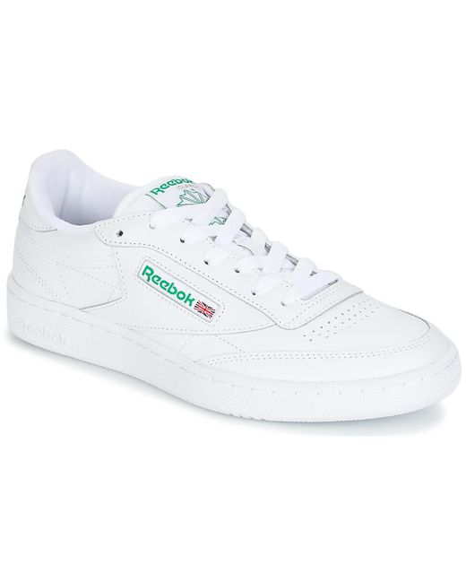 f0bc342352f9c Reebok Club C 85 Women s Shoes (trainers) In White in White - Save ...