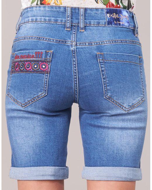 Women s Desigual Shorts Catrina Lyst Blue In 0wTqw7v abf663a42c9