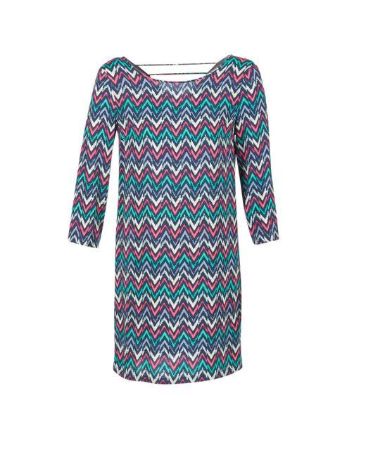 Best Mountain | Blue Rosemari Women's Dress In Multicolour | Lyst