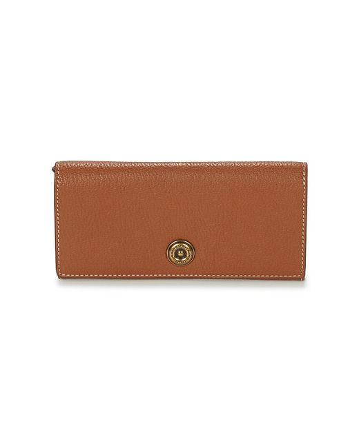 Lauren by Ralph Lauren   Millbrook Flap Continental Women s Purse Wallet In  Brown   Lyst ... c99e6173d4