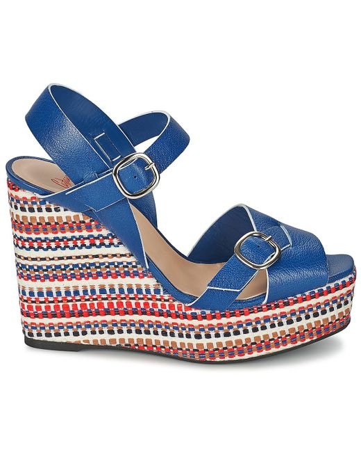 ... Castaner | Blue 'fay' Wedge Sandals ...
