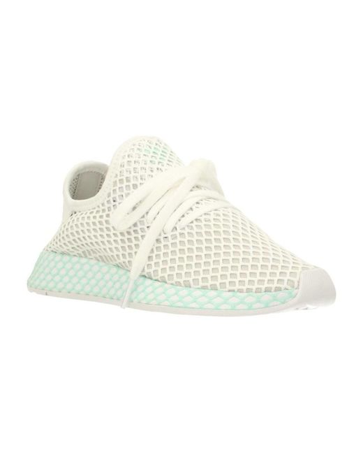 save off 05ca4 9ea57 Adidas - Deerupt Runner W Womens Shoes (trainers) In White - Lyst ...
