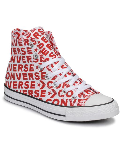 1bd5877ef88b Converse - Chuck Taylor All Star Wordmark Hi Men s Shoes (high-top  Trainers) ...