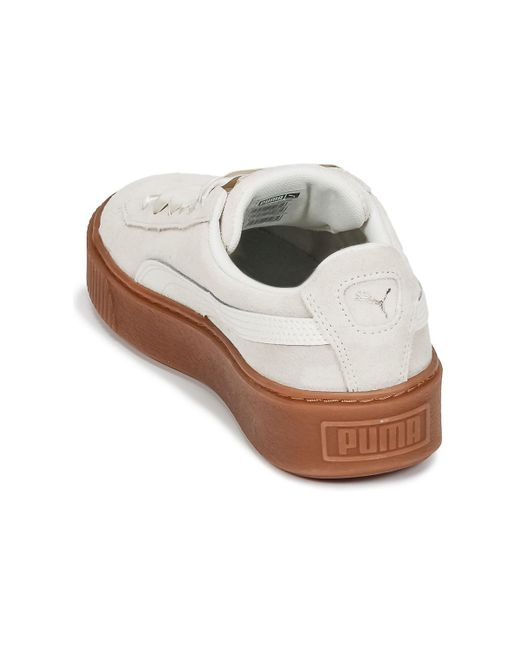 new product 16bd6 8d17a ... PUMA - Suede Platform Bubble W s Women s Shoes (trainers) In White ...
