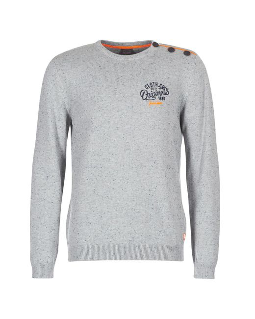 Jack & Jones - Gray Jortrast Men's Sweater In Grey for Men - Lyst