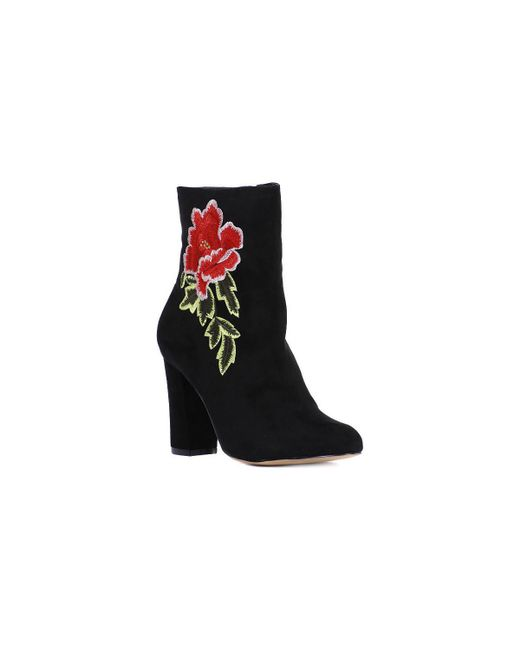Madden Girl | Flower Women's Low Ankle Boots In Black | Lyst