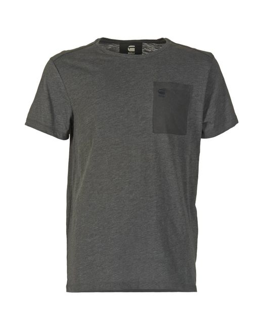 G-Star RAW | Gray Mazuren Regular Men's T Shirt In Grey for Men | Lyst