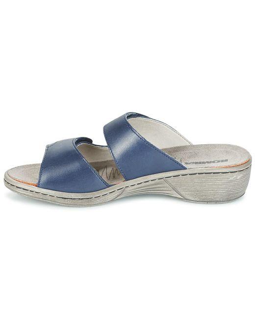b53597e0d8238a ... Romika - Blue Mainau 17 Mules   Casual Shoes - Lyst ...