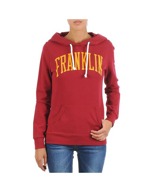 Franklin & Marshall - Townsend Women's Sweatshirt In Red - Lyst