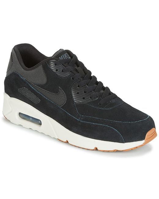 Nike - Air Max 90 Ultra 2.0 Leather Men s Shoes (trainers) In Black for ... e07049490