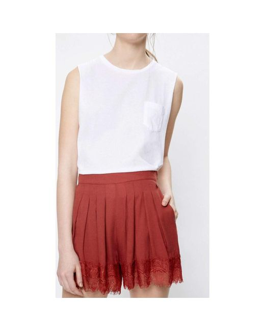 Pepe Jeans | Pl800674 Shorts Women Red Women's Shorts In Red | Lyst