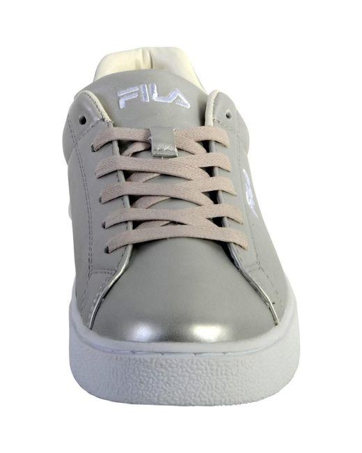 the best attitude 41642 8935b ... Fila - Gray Basket upstage m femmes Chaussures en Gris - Lyst ...