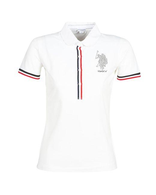 U S Polo Assn Kimberly Polo Ss Women S Polo Shirt In White In