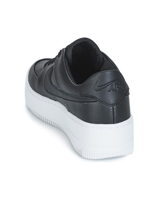 buy popular d5a24 42028 ... Nike - Air Force 1 Sage Low W Womens Shoes (trainers) In Black ...