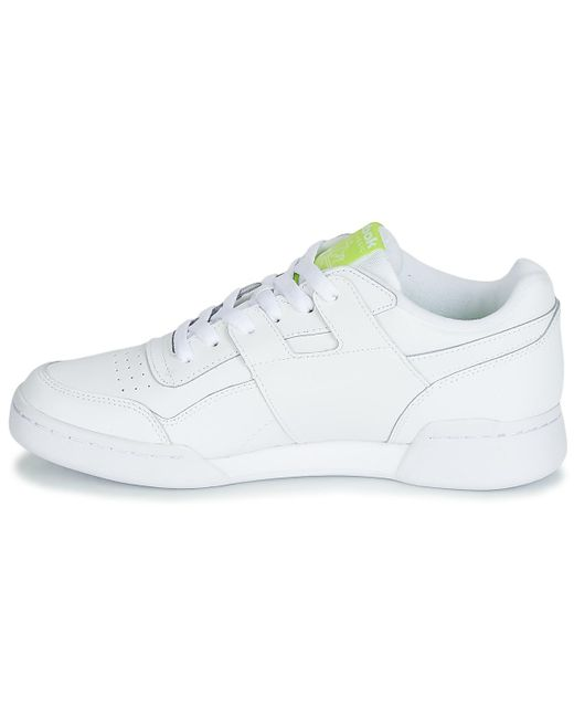 f289d8c144e19 ... Lyst Reebok - Workout Plus Mu Men s Shoes (trainers) In White for Men  ...