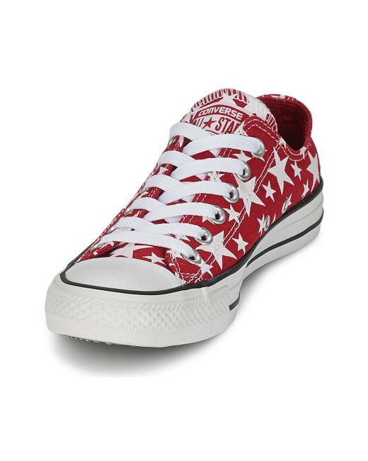 dbd3273990 ... Converse - Chuck Taylor All Star Multi Star Print Ox Men's Shoes  (trainers) In ...